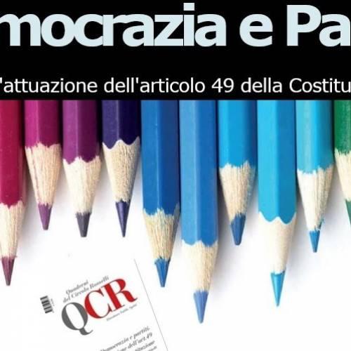 DEMOCRAZIA E PARTITI – Roma 24/01/2019, ore 17