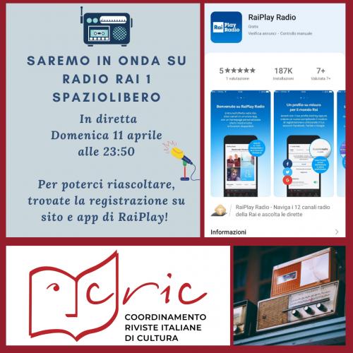 Il Cric arriva su Radio Rai 1!