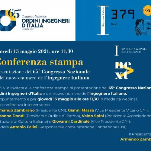 Comunicato Stampa presentazione 13 maggio del numero speciale de L'Ingegnere Italiano