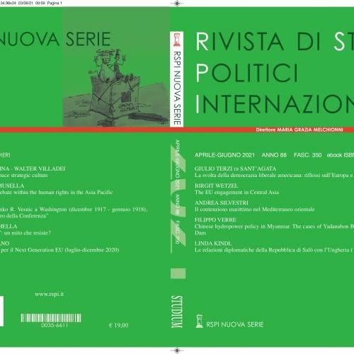 """Nuovo numero della """"Rivista di Studi Politici Internazionali"""""""