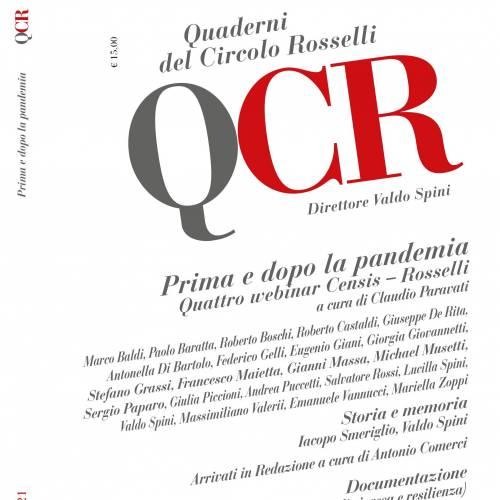 """Nuovo fascicolo dei """"Quaderni del Circolo Rosselli"""" 2/2021"""
